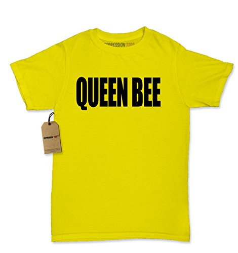 Womens Queen Bee T-Shirt Large Yellow (Bee Fitted T-shirt)