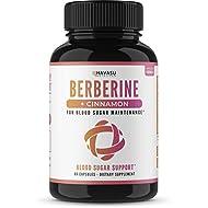 Premium Berberine + Cinnamon - Supports Healthy Blood Sugar Levels, Insulin Metabolism & Immune Function, Promotes Glucose Metabolism