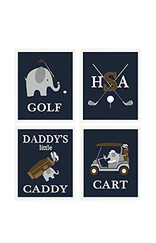 elephant-golf-nursery-golf-wall-art-daddys-little-caddy-personalized-wall-art-gray-navy-blue-golf-nu