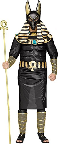 Anubis Adult Costumes (Adult Egyptian God Anubis Muscle Costume (Standard))
