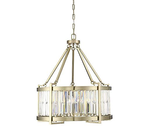 Savoy House Cologne 5-Light Pendant in Noble Brass