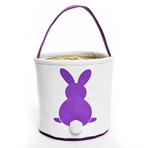 Easter Basket for Kids Bunny Bag for Easter (Purple) (Easter Basket Kids)
