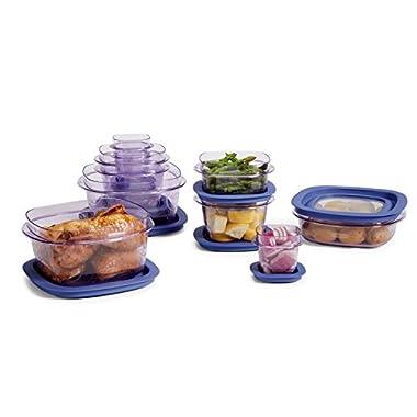 Rubbermaid Easy Find Lid Premier Food Storage Container, Purple, 20-Piece Set (1812437)