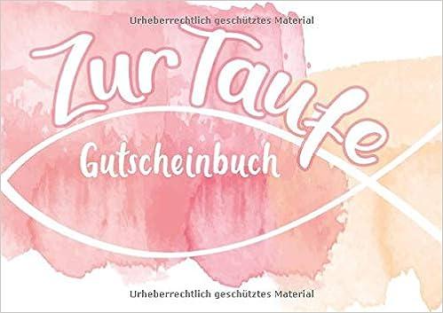 Zur Taufe Gutscheinbuch Blanko Gutscheinheft In Pinkrosa