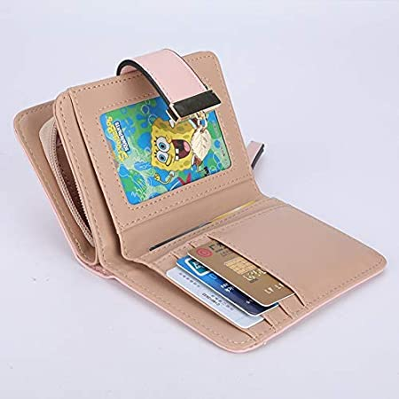 Color : Pink Color : Pink YOIOY Envelope Clutch Bag New Short Wallet Fashion Ladies Zipper Buckle Hollow Leaf Small Wallet Hollow Gold foil Wallet Card Package