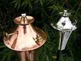 Starlite Garden and Patio Torche Kona Deluxe Tiki Torch Decor, Smooth Nickel