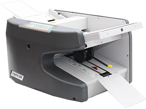 Martin Yale 1611 Ease-of-Use Paper Folding Machine, Operates at a speed of up to 9,000 sheets per hour, Feed table has a capacity of 150 sheets of 20lb bond paper by MARTIN YALE