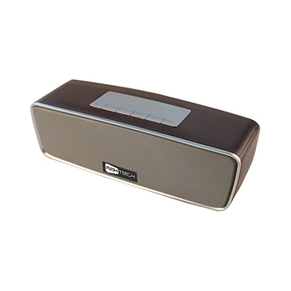 MAK Tech 8W RMS Rechargeable Bluetooth Speaker with Call Answer function and Inbuilt FM Radio , USB , Aux Port and