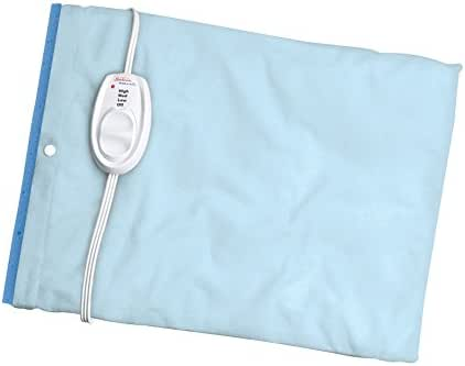 Sunbeam Heating Pad for Pain Relief | Standard Size UltraHeat, 3 Heat Settings with Moist Heat| Light Blue, 12-Inch x 15-Inch