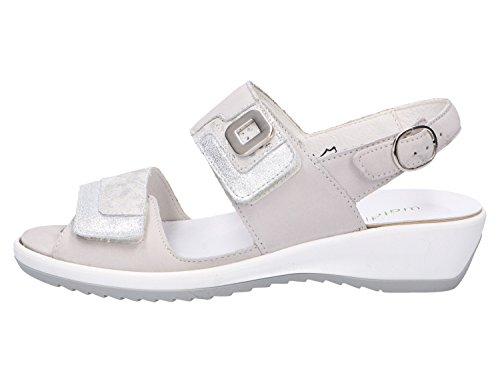 013 Cement Silber Silber Silber Sandalias Mujeres Silber Waldläufer Weiß 225006307 Cement Gris qfnSUwxxv