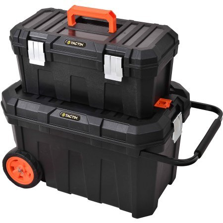 2-In-1 Rolling Tool Box Heavy duty steel latches Review