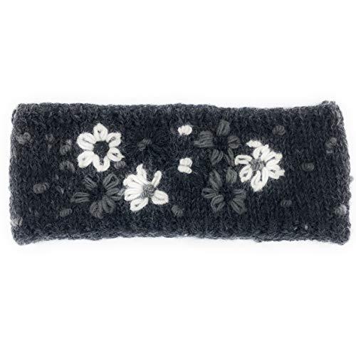 Hand Knit Felted Wool Flower Winter Knit Warm Fleece Lined