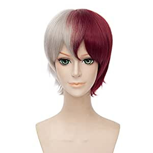 Onecos Anime Boku no Hero Academia Todoroki shouto peluca