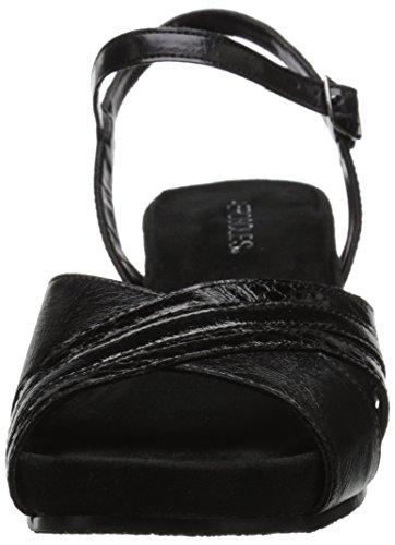 Aerosoles Womens Lighted Path Wedge Sandal Black 4TiDP0H