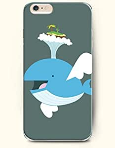 iPhone 6 Case,iPhone 6 Plus (5.5) Hard Case **NEW** Case with the Design of Flying Blue Whale - ECO-Friendly Packaging - Case for iPhone iPhone 6 Plus (5.5) (2014) Verizon, AT&T Sprint, T-mobile