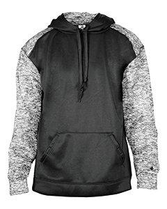 (Badger Mens Blend Sport Hooded Sweatshirt (1462) -Black/Black -2XL )