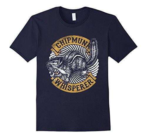 Mens Chipmunk Whisperer Funny T-Shirt Love Squirrel Women Tee Medium Navy