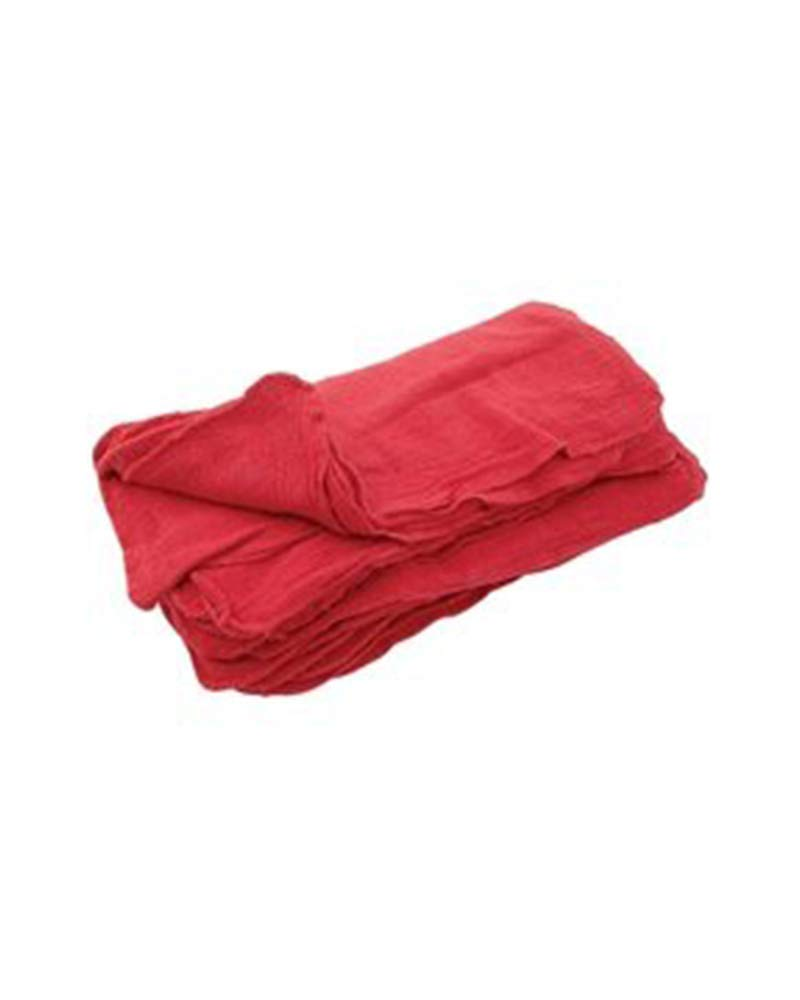 Sara Glove 14x14 Inch Shop Towel/Cleaning Mechanic Rags - 100% Cotton Commercial Towels, Perfect for Automotive Garage, Kitchen, Home (RED) (500 Count) by Sara Glove (Image #1)