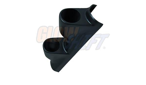 ABS Plastic Mounts 3 GlowShift Black Triple Pillar Gauge Pod for 1998-2002 Honda Accord 4 Door Sedan 52mm 2-1//16 Gauges to Vehicles A-Pillar
