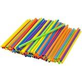 Kizmos Jumbo Flex Straws, Assorted, 125 Count