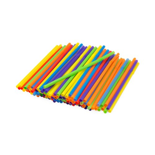 Kizmos Jumbo Flex Straws, Assorted, 125 Count