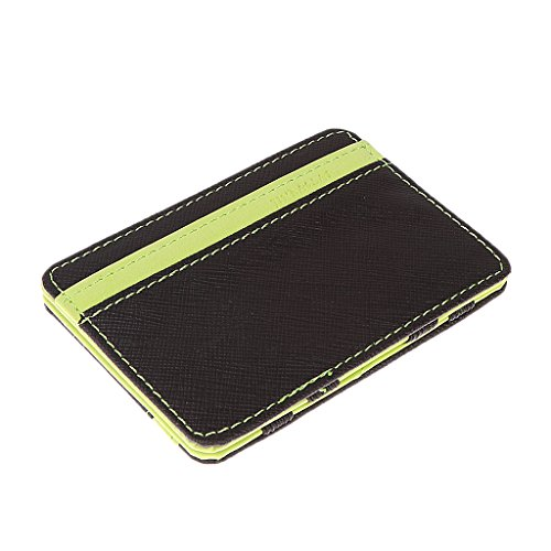 Clever Business Cards (MonkeyJack Mens Magic Flip Leather Wallet Ultra Slim Line Credit Card Holder - Green)