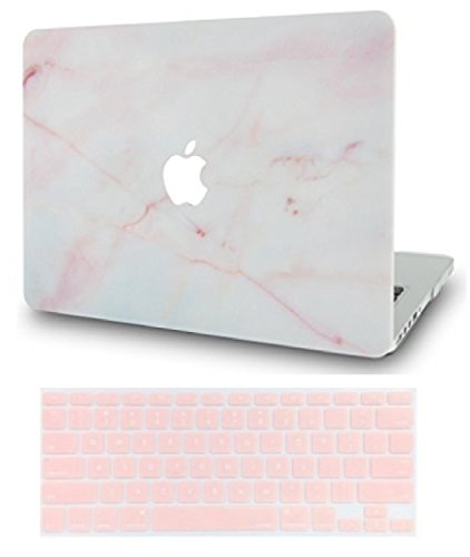 LuvCase MacBook Pro 13 Case 2017 & 2016 with Keyboard Cover Plastic Hard Shell Cover A1706 / A1708 with/without Touch Bar (Pink Marble)