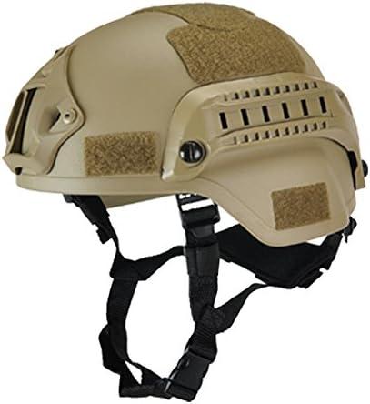Eamqrkt - Casco táctico militar para airsoft, paintball, con soporte para cámara deportiva y visión nocturna