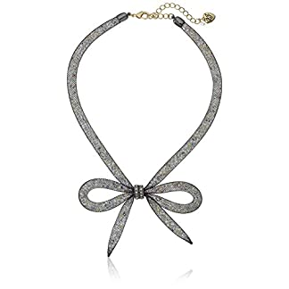 Betsey Johnson Memoirs of Betsey Mesh Bow Necklace