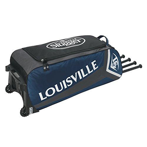 Louisville Slugger EB Series 7 Ton Baseball Equipment Bags, Navy (Rigid Chassis Rolling)