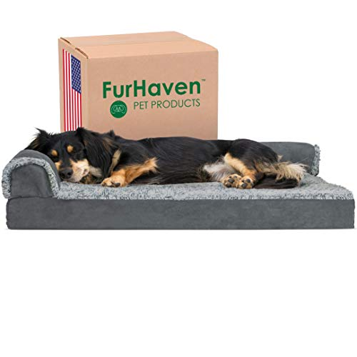 Furhaven Pet Dog Bed, Dog Bed Orthopedic Memory Foam Dog Beds, Removable Washable Cover, Dog Bed for Crates, Sofa and…