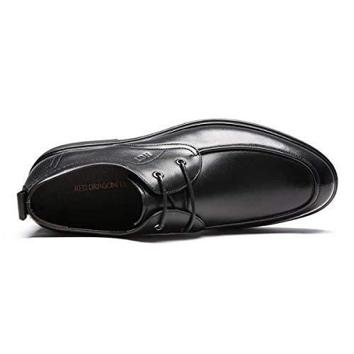 Lacets en Tête 40 Costumes England Respirantes Ronde XLF Cuir Chaussures pour Chaussures Hommes à Adefg UE à Bottes wRXqz4