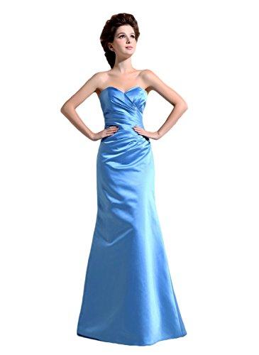 Bridal_Mall - Robe - Trapèze - Sans Manche - Femme -  Bleu - 54 plus