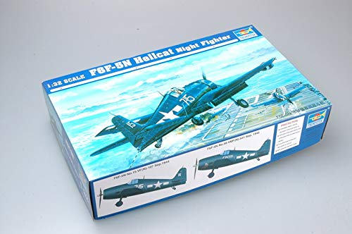 F6f Hellcat Fighter - Trumpeter 1/32 F6F5N Hellcat Fighter Model Kit