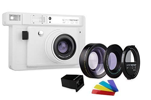 Lomography Lomo'Instant Wide Camera + 3 Lenses – Instant Film Camera