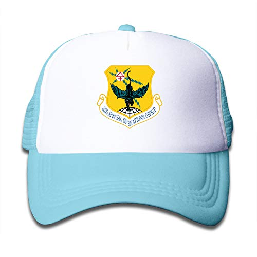 The 353d Special Operations Group Emblem Children Sun Caps Hat Sky Blue (Special Ops Group)