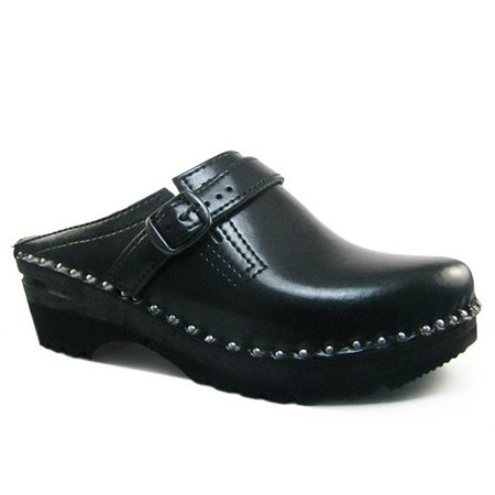 Troentorp Womens Båstad Donatello Leather Clog Black Patent