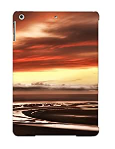 New Style Exultantor Water Sunset Clouds Landscapes Nature Premium Tpu Cover Case For Ipad Air