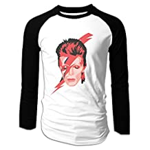 Aladdin Sane Album-David Bowie Men's Baseball Jerseys Long Sleeve Shirts