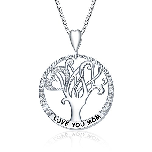"""Nummy """"I Love You Mom"""" Love Heart Necklace, 18"""
