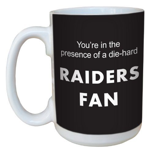 Tree-Free Greetings lm44130 Raiders Football Fan Ceramic Mug with Full-Sized Handle, 15-Ounce
