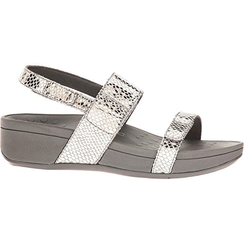 aea47d4fcf93 Vionic Womens Pacific Bolinas Backstrap Wedge Sandal Pewter Snake Size 7 -  Buy Online in Oman.