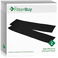2 - FilterBuy Honeywell K Filters, HRF-K2 Replacement Charcoal Filters. Designed by FilterBuy to be Compatible with Honeywell AirGenius Air Purifiers.