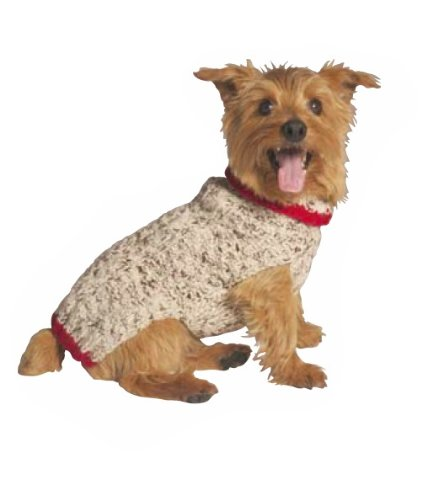 Chilly Dog 200776 XXL Oatmeal W Red Trim