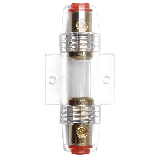 - 4/8 Gauge Inline AGU Fuse Holder for Car Truck Marine Audio Amp Amplifier with Fuse Base