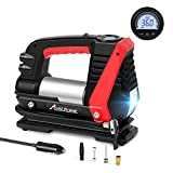 Avid Power Tire Inflator Air Compressor, 12V DC Car Tire Pump with Fast Inflation(0-35Psi Within 3mins), LED Light, Digital LCD Display, Auto Shut Off