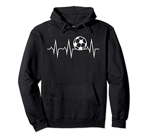 (Soccer Heartbeat Pullover Hoodie)