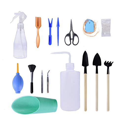 (Joyclub 16 Pieces Succulent Tools Mini Garden Hand Tools Miniature Garden Planting Transplanting Tool)