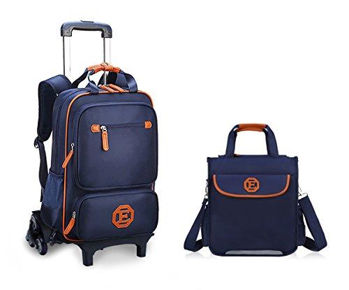 Meetbelify Trolley School Bags Rolling Backpack For Kids