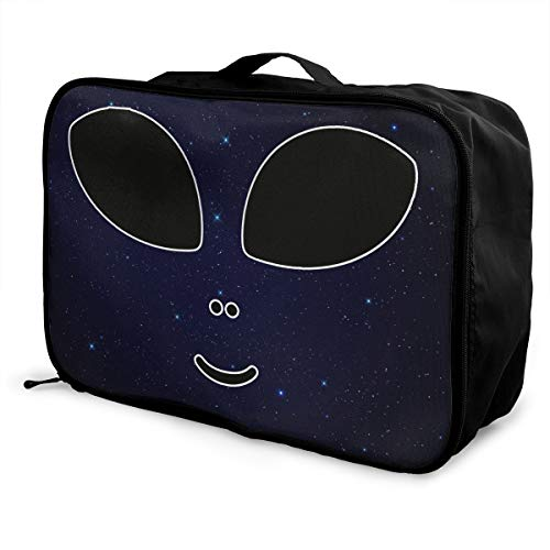 Halloween Costume Cute Alien Luggage Bag Capacity Portable Large Toiletry Bag Travel Makeup Bag ()